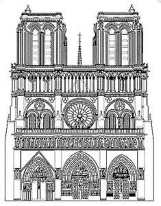 Dessin de Notre-Dame de Paris