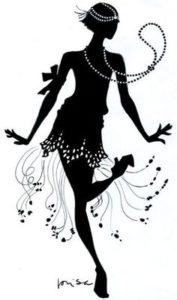 cours particulier de Charleston (Silhouette danseuse)
